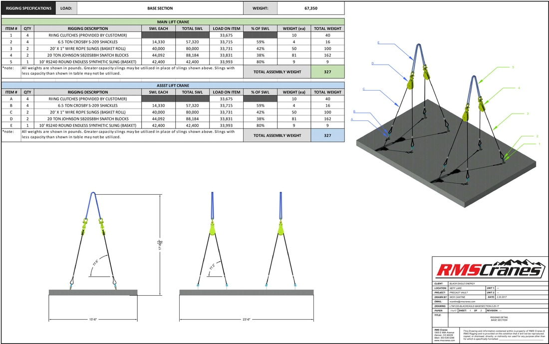 Engineering and Lift Planning for crane and rigging projects. PE ...